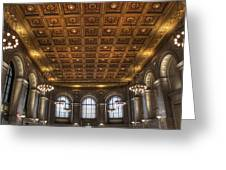 Great Hall St. Louis Central Library Greeting Card