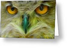 Great Horned Eyes Fractal Greeting Card