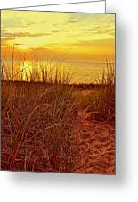 Great Lake Great Sunset 2 Greeting Card