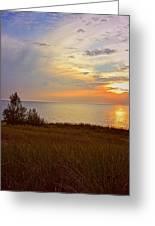 Great Lake Great Sunset Greeting Card