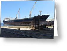 Great Lakes Ship Polsteam 4 Greeting Card