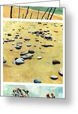 Great Lakes Triptych 2 Greeting Card by Michelle Calkins