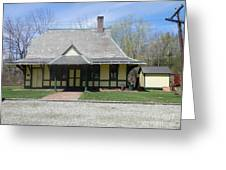 Great Meadows Railroad Station In N J Greeting Card