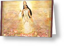 Great Mother Goddess In A Higher Dimension Greeting Card by Ananda Vdovic