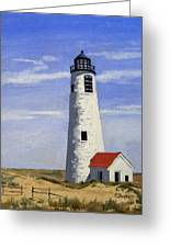 Great Point Lighthouse Nantucket Massachusetts Greeting Card