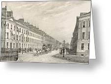 Great Pultney Street, Bath, C.1883 Greeting Card