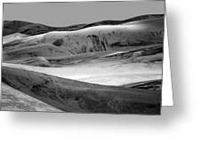 Great Sand Dunes - 1 - Bw Greeting Card