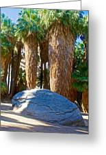 Great Sliding Rock In Lower Palm Canyon In Indian Canyons Near Palm Springs-california Greeting Card
