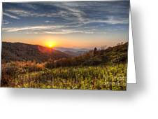Great Smoky Mountains At Sunset Greeting Card