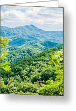 Great Smoky Mountains National Park Near Gatlinburg Tennessee. Greeting Card
