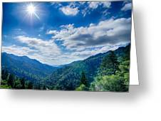 Great Smoky Mountains National Park On North Carolina Tennessee  Greeting Card