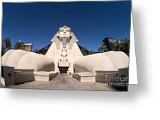 Great Sphinx Of Giza Luxor Resort Las Vegas Greeting Card