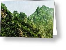 Great Wall 0043 - Pastel Pencils Hp Greeting Card