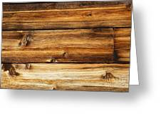 Great Weathered Wood Background Greeting Card