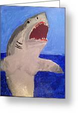 Great White Shark Breaching Greeting Card