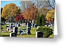 Greece Fall Cemetery Greeting Card