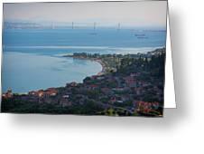 Greece. The Rioantirrio Bridge Greeting Card