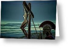 Greek Crucifixion Scene II Greeting Card