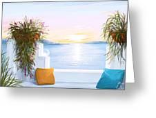 Greek House Greeting Card