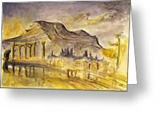 Greek Ruins Greeting Card