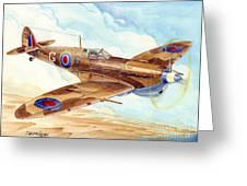 Greek Squadron Spitfire Greeting Card