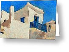 Greek Village 27 Greeting Card