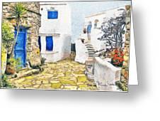 Greek Village 8 Greeting Card