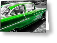 Green 1957 Chevy Greeting Card
