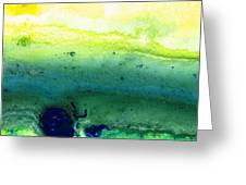 Green Abstract Art - Life Song - By Sharon Cummings Greeting Card