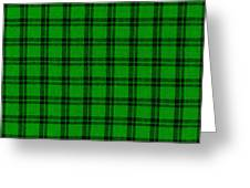 Green And Black  Plaid Cloth Background Greeting Card