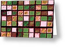 Green And Brown Sudoku Greeting Card