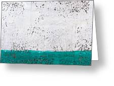 Green And White Wall Texture Greeting Card