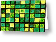 Green And Yellow Sudoku Greeting Card