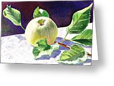 Green Apple Greeting Card