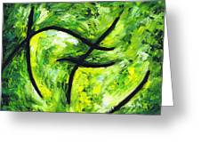 Green Apple Greeting Card by Kamil Swiatek