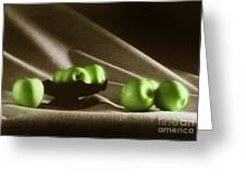 Green Apples Greeting Card