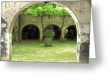 Green Arch Greeting Card