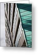 Green Architectural Detail Greeting Card