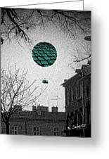 Green Balloon Greeting Card