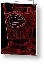 Green Bay Packer Glass Greeting Card