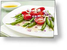 Green Bean And Tomato Salad Greeting Card