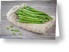 Green Beans Greeting Card by Sabino Parente