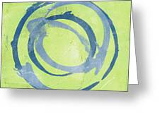 Green Blue Greeting Card
