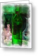 Green Bottle Photo Art Greeting Card