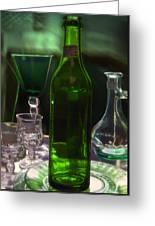 Green Bottle Greeting Card