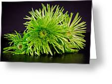 Green Bouquet Greeting Card