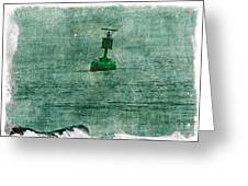 Green Buoy - Barnegat Inlet - New Jersey - Usa Greeting Card