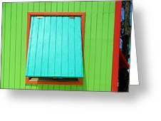 Green Cabin Greeting Card