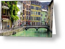 Green Canal Greeting Card