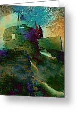 Green Castle Greeting Card